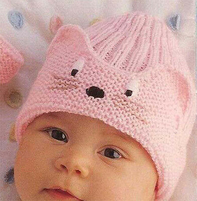 Gorgeous baby boy-girl Animal hat &paw bootees Knitting pattern in 4 ply-21-41cm