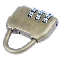 Vintage Alloy Lock 3 Dial Digit Combination Password Padlock Mini Antique Style