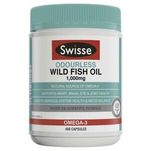Swisse Ultiboost Odourless Wild Fish Oil 1000mg Capsules 400 pack