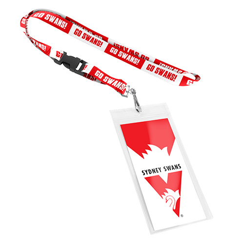 NEW Official Sydney Swans Lanyard (With Sleeve)