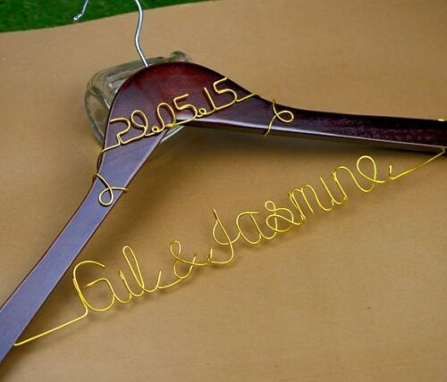 Personalized Wedding Hanger with Date Bridal Bride Bridesmaid Name Dress hanger