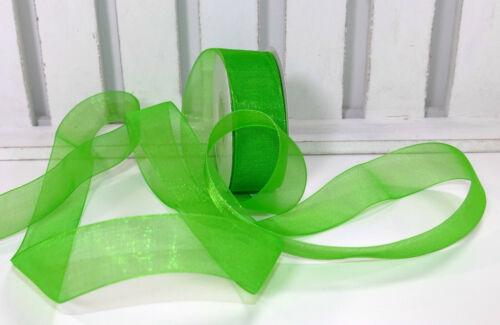 Schleifenband Hochzeit grün 25mm Organza 0,10 €//m 25m Organzaband