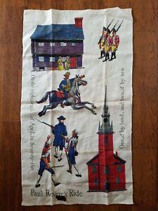 Vintage-Kay-Dee-Hand-Print-Linen-Kitchen-Towel-Paul-Revere-Robert-Hughes