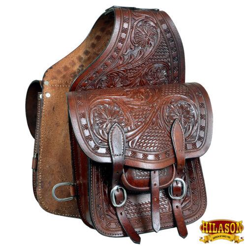 C-G127 Horse Western Saddle Bag Heavy Duty Leather Cowboy Trail Ride Hilason