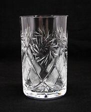 Russian Crystal Glass Hot Tea Glass, fits Metal Holder Podstakannik USSR Vintage