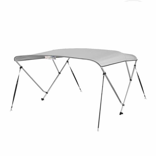 "L x 79/"" Bimini Top Boat Cover 36/"" High 3 Bow 6/' ft 84/"" W GRAY"