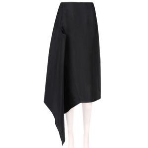 J-W-Anderson-Black-Japanese-Canvas-Keyhole-Skirt-UK8-IT40