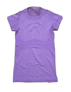 Free-Ship-Lululemon-Run-Swiftly-Short-Sleeve-Shirt-Sz-6-Purple-Great-Condition