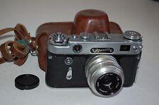 Zorki-6 Vintage 1960 Soviet Rangefinder Camera & Lens. Serviced. No.600044412