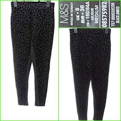 New Womens Marks /& Spencer Black Jeggings Size 12 10 Long Medium Short