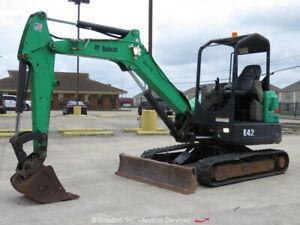 2014-Bobcat-E42-Mini-Excavator-Rubber-Tracks-Backhoe-Diesel-Aux-Hyd-bidadoo
