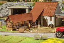 FALLER 191707; landwirtschaftliche Scheune, Stall und Zubehör  NEU&OVP