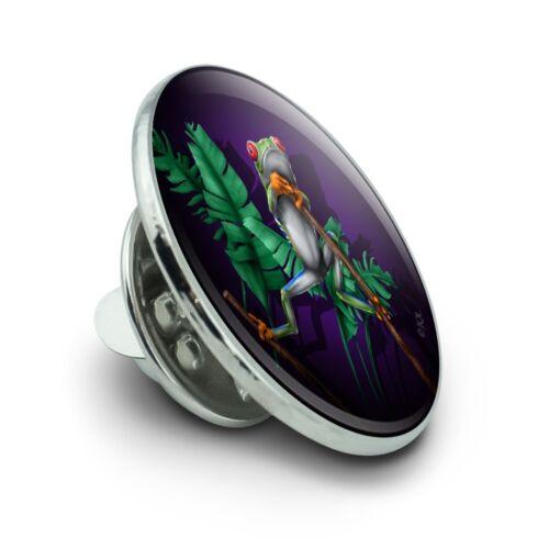 "South American Tree Frog traîner métal 0.75/"" Lapel hat pin TIE TACK Pinback"