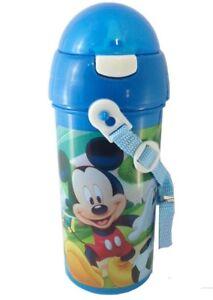 Disney-Mickey-Mouse-FLASQUE-boissons-distributeur-avec-paille-et-cordon