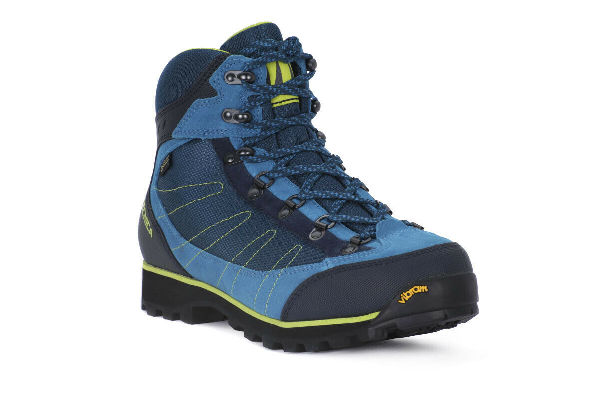 Tecnica Makalu IV GTX Ms Hombre botas Azul Amarillo  Trekking Botines Gore Tex  colores increíbles