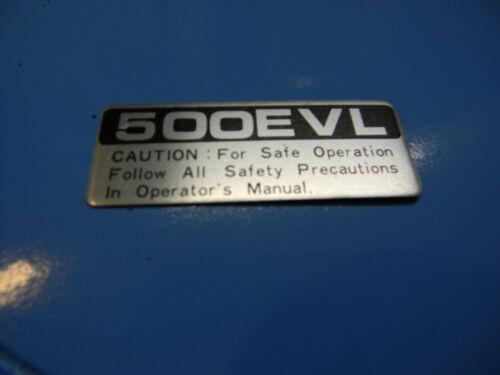 BOX578D --------------- ECHO 500EVL STICKER DECAL