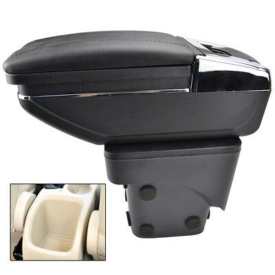 Car Storage Box Container Rotatable Armrest For Ford Focus 2 Mk2 2005-2011