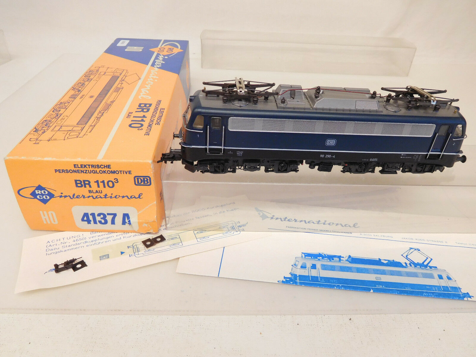 Mes-60063 Roco 4137 a h0 E-LOK DB 110 290-4, chassis and zurüstteil Loose