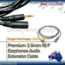 1.5M Gold Plated 3.5mm M/F Earphones Audio Extension Cable Lead Cord