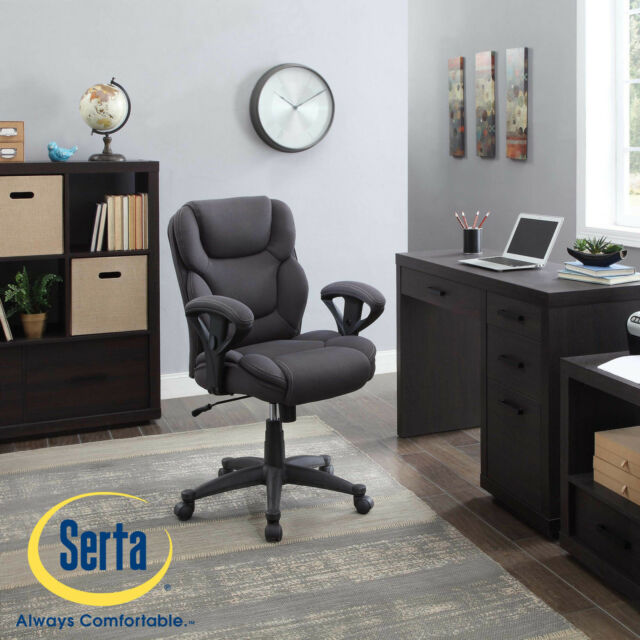 Serta Gray Mesh Fabric Big And Tall Manager Chair Office Desk Heavy Duty