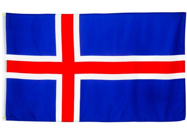 Fahne Island Flagge Reykjavik Hissflagge 90 x 150 cm