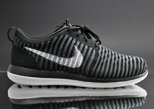 4bbb0544841f1 New Nike Roshe Two Flyknit (GS) Black   White Size 5Y 844619 001