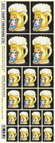 CREATION STICKERS BEAR /& BEER TANKARD FOR CARDS /& CRAFT