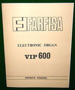 Service-Manual-for-FARFISA-VIP-600-Combo-Organ-VIP600-Schematic-Diagrams-Parts