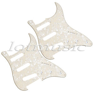 2-Pcs-Yellow-Pearl-guitar-Pickguard-plate-3PLY-SSS-For-Fender-Strat-replacement