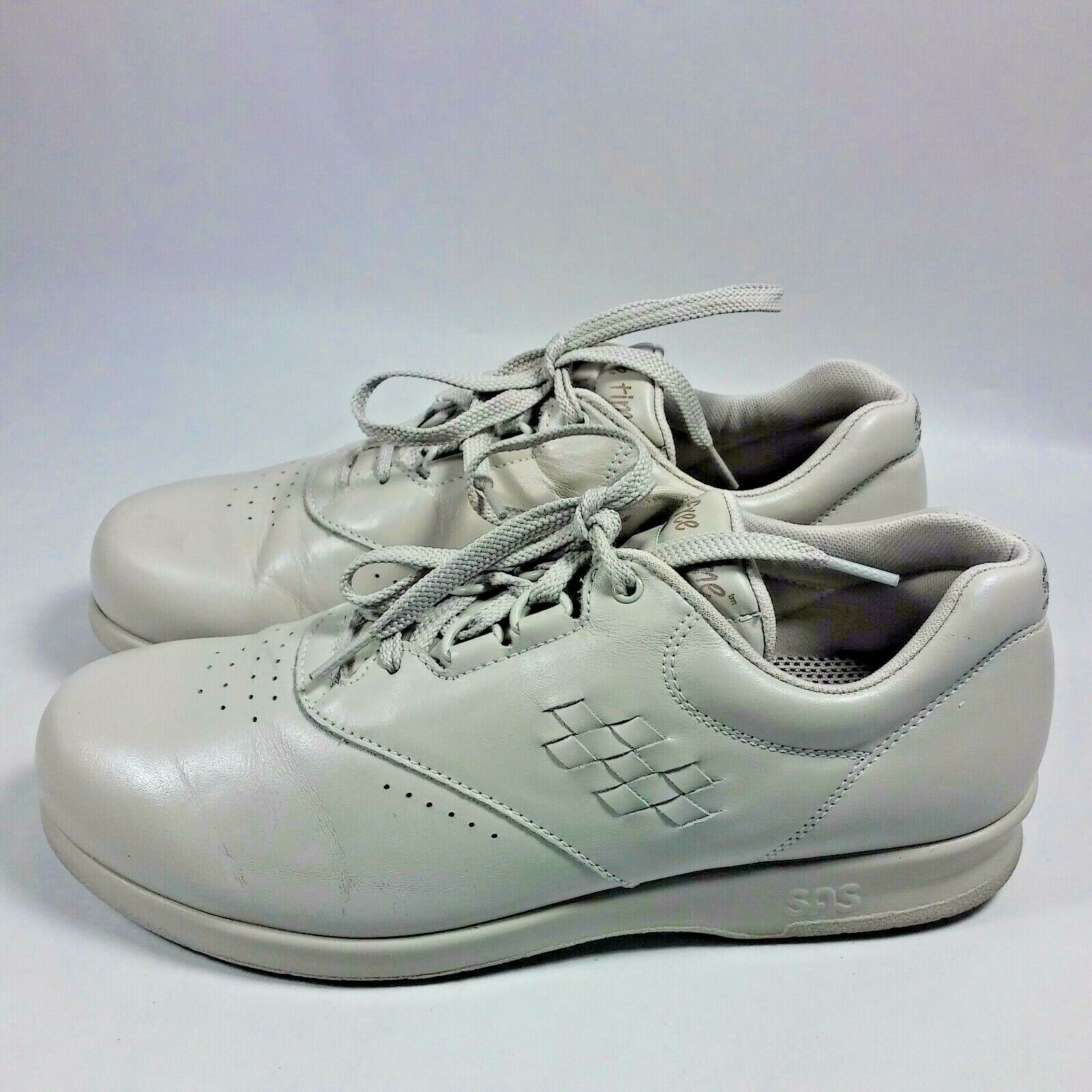 NICE Women's SAS Free Time Comfort Walking shoes-Beige Leather-USA MADE-8.5 N