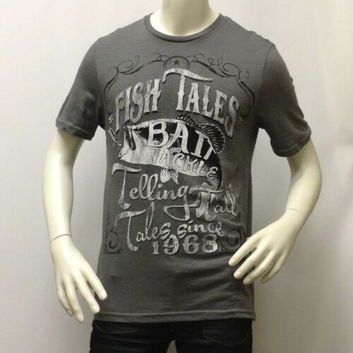 """Bait and Tackle /""""NO BORDERS/"""" 100/% COTTON Tee Summer Fish Tales Men/'s T-Shirt"""