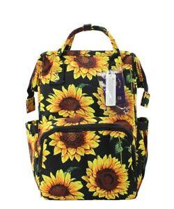 Sunflower Flowers NGIL Diaper Bag Baby Kids Toddler Mom Backpack Free Ship! NEW
