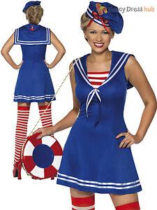 5cb8ae8ab8 La imagen se está cargando Sexy-Damas-marinero-Cutie-Disfraz-Adultos-Azul- Marino-