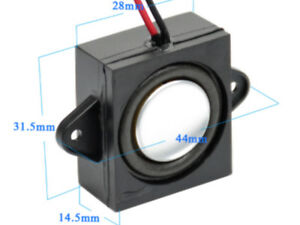 8 Ohm Mega Bass 1 Inch Square Speaker For Loksound 4, 5 & Zimo DCC Sound, Reflex