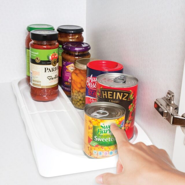Kitchen Cupboard Food Storage Organiser Tin Can Tidy see them both on Youtube!