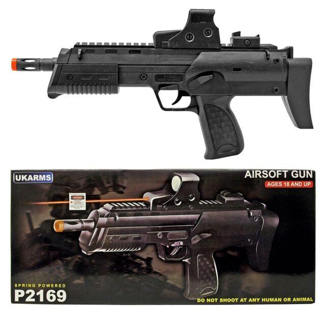 Uk Arms 15 Black Spring Airsoft Pistol Hand Gun P2169 Rail Mount Laser 1000 Bbs For Sale Online Ebay
