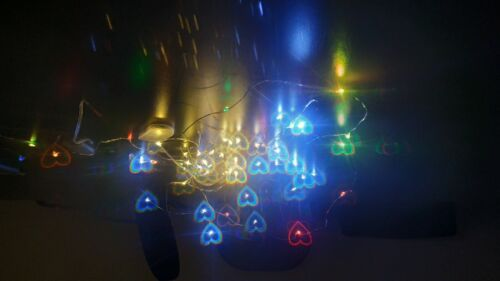 Holographic Hearts Film Size A4 Diffraction Sheet Firework Optics Illusion DIY