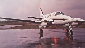 Original Beechcraft King Air E90 Sales Brochure, 4 page, 3.75 x 8.5""
