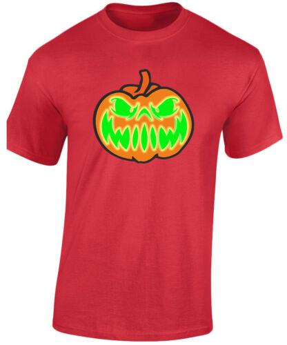 Grinning Jack Glow In The Dark Halloween Fancy Dress Kids Unisex T-Shirt 8 Colou