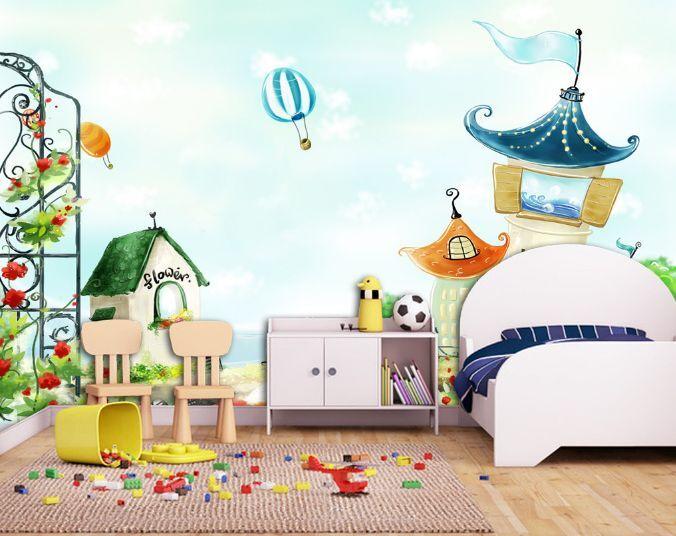 3D Jolie Hanabusa 4 Photo Papier Peint en Autocollant Murale Plafond Chambre Art