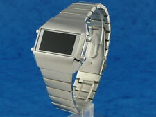 SILVER Rare Old Vintage 70s 1970s Style LED LCD DIGITAL Retro watch sts