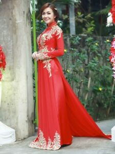 Vietnamese traditional festival/wedding dress with pants, Ao dai ...
