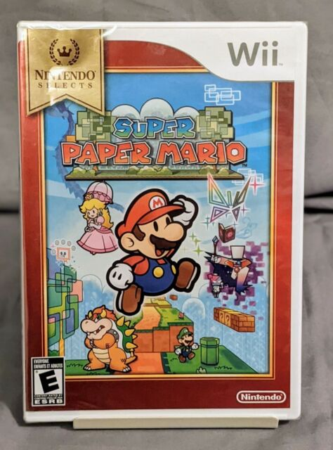 Super Paper Mario Nintendo Selects - Wii Video Game - New Factory Sealed