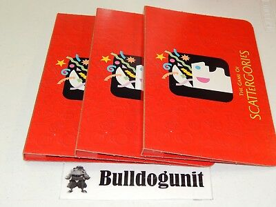 Scattergories Game Replacement Folder and 6 List Cards 1999 97