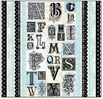 "Creative Imaginations BLUE BELL ALPHABET & BORDERS 12""x12"" Cardstock Stickers"