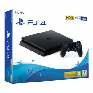 CONSOLE-SONY-PS4-500GB-SLIM-PLAYSTATION-4-NERA-BLACK-CHASSIS-E-ITALIA