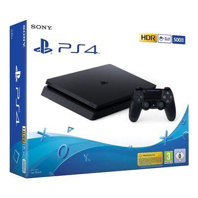 CONSOLE SONY PS4 500GB SLIM PLAYSTATION 4 NERA BLACK CHASSIS E ITALIA