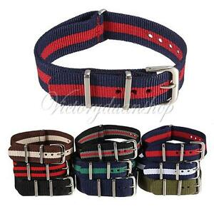 Army-Style-18-20mm-Military-Nylon-Wrist-Watch-Band-Strap-Stainless-Steel-Buckle