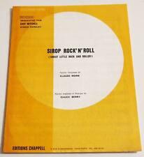 Partition sheet music EDDY MITCHELL : Sirop Rock'n'Roll * 70's Chuck Berry