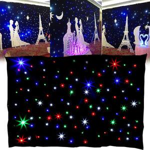 3x2m-Stern-LED-Sternvorhang-Buehnenbeleuchtung-Fuer-Romantisch-Hochzeiten-DJ